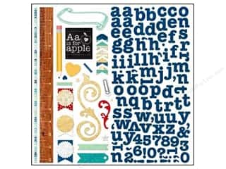 stickers  -3D -cardstock -fabric: Bo Bunny Chipboard Stickers 12 x 12 in. Pop Quiz