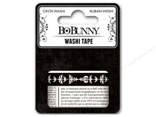 Washi Tape: Bo Bunny Washi Tape Black & White Patterned
