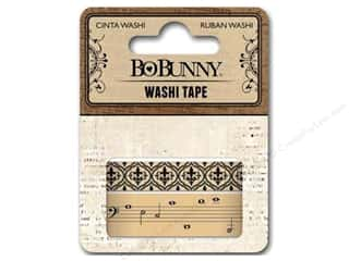 Music & Instruments Memory/Archival Tape: Bo Bunny Washi Tape Kraft Patterned
