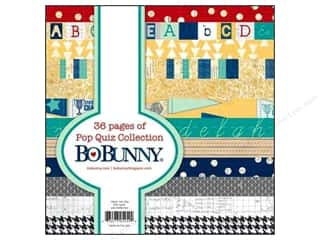 Back To School $6 - $10: Bo Bunny 6 x 6 in. Paper Pad Pop Quiz