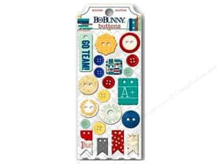 Chipboard Back To School: Bo Bunny Buttons 21 pc. Pop Quiz