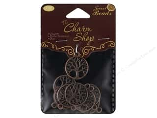 Craft & Hobbies Charms: Sweet Beads Charm Shop Charm Metal Tree Antique Copper 9pc