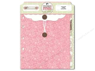 Envelopes Designer Papers & Cardstock: Bo Bunny Misc Me Envelopes Primrose