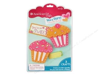 felting kits: American Girl Kit Sew & Shares Cupcake