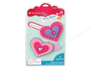 felting kits: American Girl Kit Sew & Shares Hearts