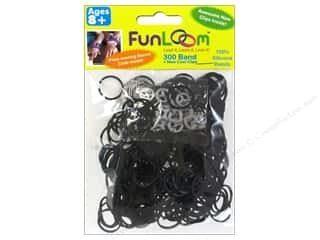 Elastic Clearance Crafts: FunLoom Silicone Bands Black 300pc
