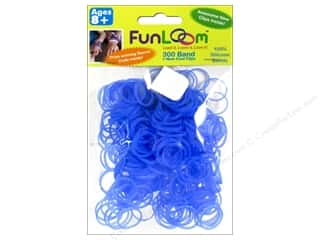 Elastic Clearance Crafts: FunLoom Silicone Bands Glow In The Dark Sky Blue 300pc