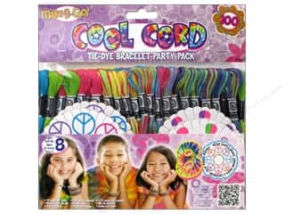 Bracelets: Janlynn Cool Cord Party Pack 105 pc. Tie Dye Bracelet