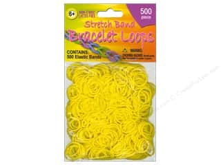 Elastic Children: Pepperell Stretch Band Bracelet Loops Yellow 500pc
