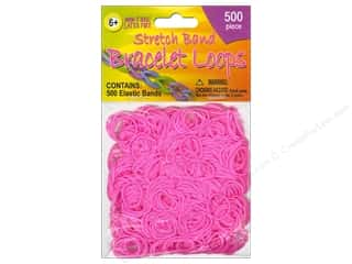 Elastic Children: Pepperell Stretch Band Bracelet Loops Pink 500pc