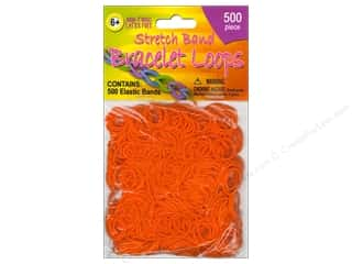 Elastic Children: Pepperell Stretch Band Bracelet Loops Orange 500pc