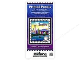 Sewing & Quilting Vacations: Zebra Patterns Printed Fabric Panel 18 x 21 in. Seattle CityStamp