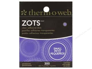 Weekly Specials Paper Accents: Therm O Web Zots Clear Adhesive Dots 300 pc. 3/16 x 1/64 in. Small