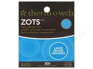 Therm O Web Interfacings: Therm O Web Zots Clear Adhesive Dots 1/2 x 1/64 in. Roll Large 300 pc.