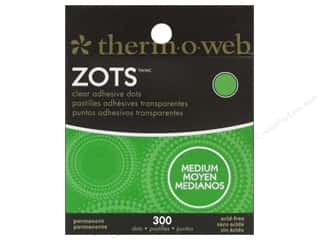 Therm O Web Sheets: Therm O Web Zots Clear Adhesive Dots 300 pc. 3/8 x 1/64 in. Medium