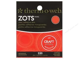 weekly special tacking: Therm O Web Zots Clear Adhesive Dots 250 pc. 1/2 x 1/16 in. Craft Large
