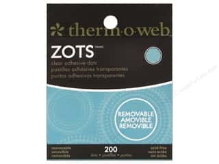 Therm O Web Therm O Web Zots: Therm O Web Zots Clear Adhesive Dots 200 pc. 3/8 x 1/64 in. Removable Medium