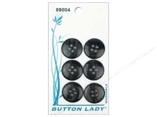JHB: JHB Button Lady Buttons 5/8 in. Black #99004 6 pc.