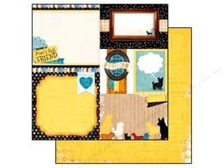 Bo Bunny 12 x 12 in. Paper Happy Tails Bow Wow (25 piece)
