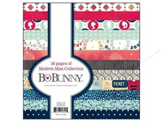 Art to Heart $6 - $12: Bo Bunny 6 x 6 in. Paper Pad Modern Miss