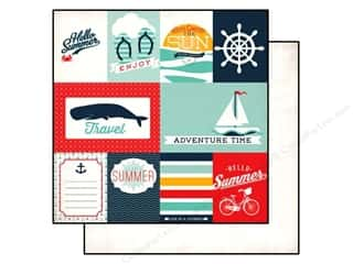 Clearance Blumenthal Favorite Findings: Echo Park 12 x 12 in. Paper Summer Adventure Journaling (15 piece)