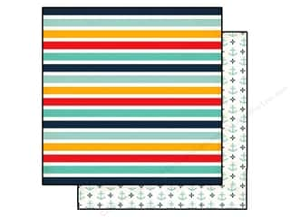 Echo Park Paper Company: Echo Park 12 x 12 in. Paper Summer Adventure Beach Stripe (15 piece)