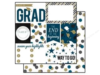 Back To School Echo Park 12 x 12 in. Paper: Echo Park 12 x 12 in. Paper Graduation Collection Journaling (15 pieces)