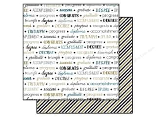 Back To School Echo Park 12 x 12 in. Paper: Echo Park 12 x 12 in. Paper Graduation Collection Words (15 pieces)