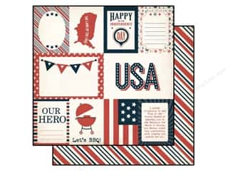 Independence Day Paper Mache: Echo Park 12 x 12 in. Paper Independence Day Collection Independence Journaling (15 pieces)