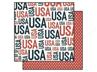 Independence Day Paper Mache: Echo Park 12 x 12 in. Paper Independence Day Collection USA Words (15 pieces)
