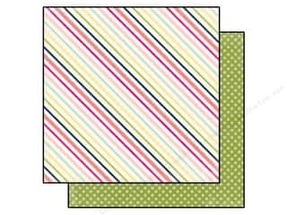 Clearance Blumenthal Favorite Findings: Echo Park 12 x 12 in. Paper Splendid Sunshine Sunny Stripe (25 piece)