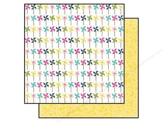 Echo Park 12 x 12 in. Paper Splendid Sunshine Pretty Pinwheels (25 piece)