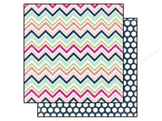 Clearance Blumenthal Favorite Findings: Echo Park 12 x 12 in. Paper Splendid Sunshine Chevron (25 piece)