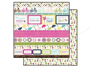 Clearance Blumenthal Favorite Findings: Echo Park 12 x 12 in. Paper Splendid Sunshine Border Strips (25 piece)
