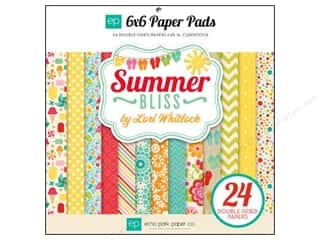 Echo Park Paper Company Sports: Echo Park Paper Pad 6 x 6 in. Summer Bliss