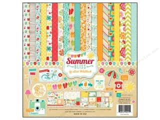 theme stickers  summer: Echo Park 12 x 12 in. Summer Bliss Collection Kit