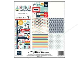 theme stickers  summer: Echo Park 12 x 12 in. Summer Adventure Collection Kit
