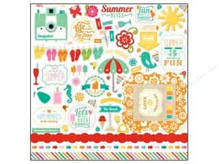"Borders Summer: Echo Park Sticker Summer Bliss 12""x 12"" Element (15 sets)"