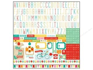 Echo Park Sticker Summer Bliss 12x12 Alphabet (15 set)