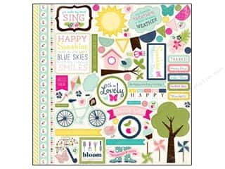"Spring Borders: Echo Park Sticker Splendid Sunshine 12""x 12"" Element (15 sets)"