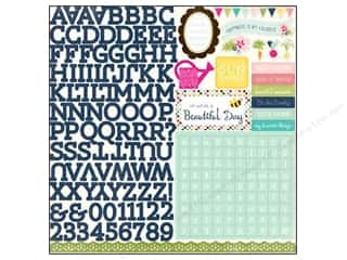 alphabet stickers: Echo Park Sticker Splendid Sunshine 12x12 Alphabet (15 set)
