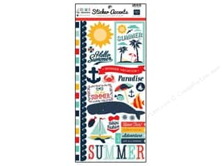 Border Stickers / Corner Stickers: Echo Park Sticker Summer Adventure 6x12 (15 set)