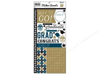 "Dads & Grads Back To School: Echo Park Sticker Grad 6""x 12"" (15 sets)"