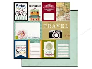Echo Park 12 x 12 in. Paper Getaway Journaling Cards (25 piece)