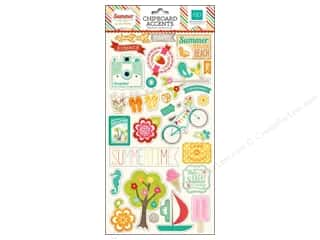 "Summer Chipboard Shapes: Echo Park Chipboard 6""x 12"" Summer Bliss"