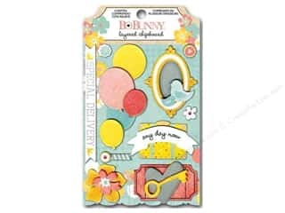 Bo Bunny Dimensional Stickers: Bo Bunny Chipboard Stickers Layered Baby Bump
