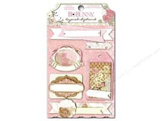 sticker: Bo Bunny Chipboard Stickers Layered Primrose