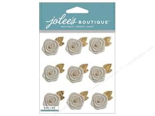 Jolee's Boutique Stickers Resin Flowers Repeat