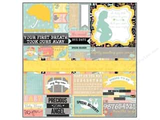 Baby Papers: Bo Bunny Cardstock Stickers Combo Baby Bump