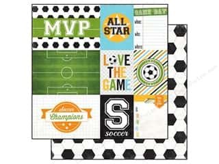 Echo Park 12 x 12 in. Paper Goal Soccer Journaling (15 piece)